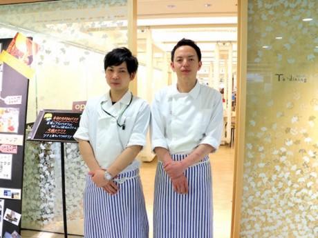 「Tsダイニング」店長の伊藤さん(左)と料理長の高橋さん(右)