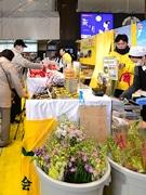 仙台駅で千葉県観光物産展 一足早い春の訪れアピール、チーバくん来場も