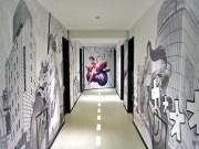 渋谷・円山町にデザインホテル 「漫画」「千本鳥居」など全階異なるデザイン