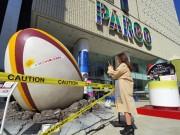 五郎丸選手が蹴った? 渋谷パルコ前に3メートル超のラグビーボール