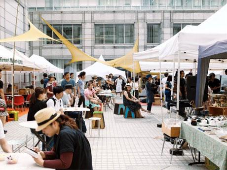国連大学前でクラフトマーケット 2日で80店舗、茶コミュニティー創出も