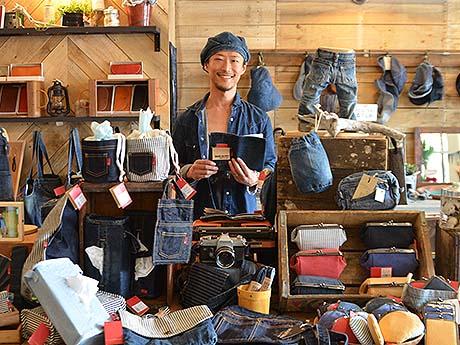 下北沢にデニム加工業者直営のデニム雑貨店 雑貨・家具など850点