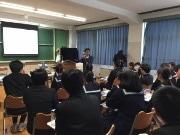 立会川・浜川中学校で高知特産の宗田節削り体験 坂本龍馬つながりで