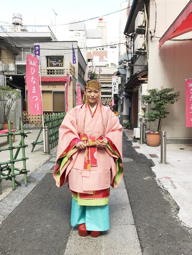 新橋の烏森神社で恒例のひな祭り行事  「ピンクのご朱印」今年から書き置き配布に