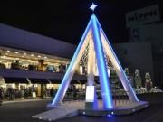 新宿テラスシティでイルミネーション始まる-「絆」「希望」などツリー40本