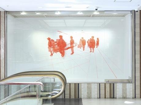新宿でルミネ主催のアートアワード 受賞作品を館内装飾として展示