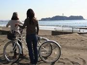 茅ヶ崎サザンビーチにビーチクルーザーのレンタサイクル