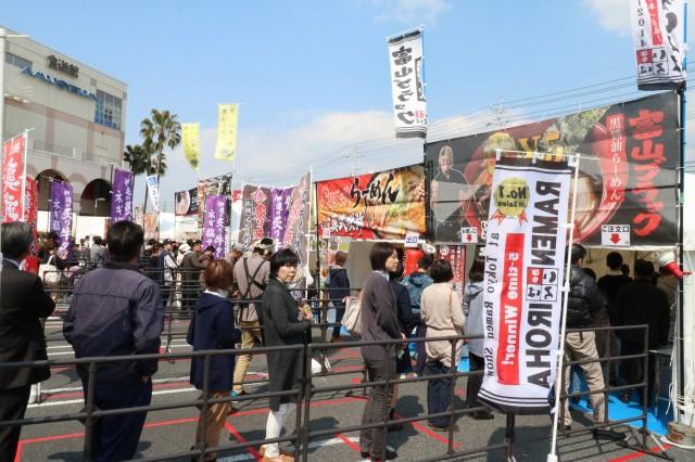 下松でラーメン博 全国各地からラーメン店10店舗