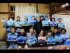 国立・鳩乃湯で「新春初夢富士山展」 銭湯背景画教室の40作品一堂に