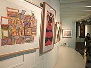 福岡市役所で障がい者施設のアート展 市内カフェでも巡回展