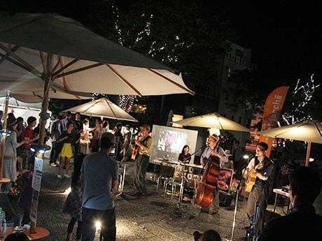 徳島・新町川水際公園でナイトマルシェ 「音楽×食」テーマに、ライブ演奏も