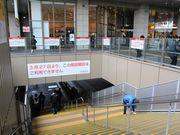 JR大阪駅2階広場の仮設階段撤去へ、ヨドバシ増床を前に