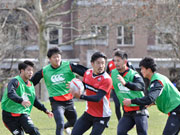 ラグビー男子セブンズ日本代表、カナダ大会前に現地練習 意気込み語る