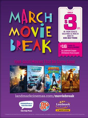 サレー「ランドマーク・シネマ」、春休みは映画を3ドルに 「ファンタビ」など人気作品上映