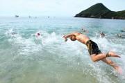 屋久島オープンウオータースイミング 一湊海水浴場を舞台に長距離水泳大会