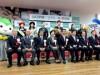 山口宇部空港に初の国際定期便 韓国から152人来県、放水アーチで歓迎