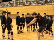 全日本男子バレーボールチーム合宿最終日 横手で市民と交流
