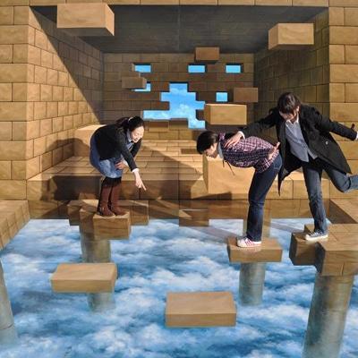 近鉄百貨店阿倍野店で「トリックアート展」開催へ-3D絵画40点展示