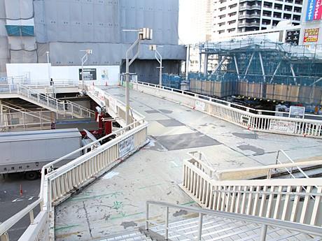 閉鎖される旧阿倍野歩道橋