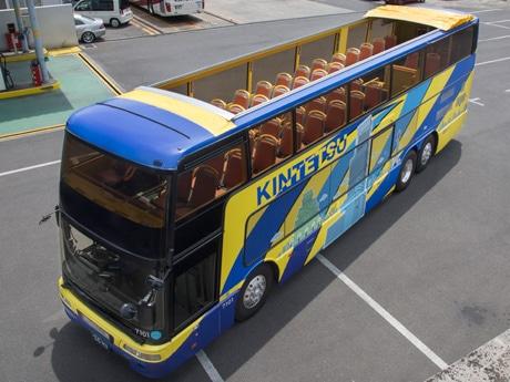 2階建てオープンデッキバス(写真=近鉄バス提供)