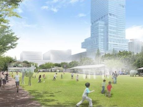 天王寺公園エントランスエリア(芝生広場のイメージ)