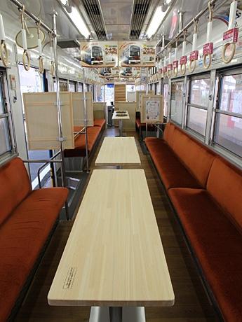 バー仕様の阪堺電車(イメージ)