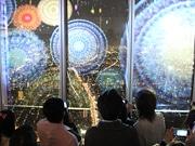 あべのハルカスの展望台で3Dプロジェクションマッピング-日本初の「夜景とコラボ」