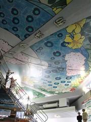 通天閣で72年ぶりに天井画復刻 長年の悲願を実現