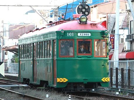 阪堺電車の復元車「モ161号車」