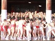 四天王寺で裸祭り「どやどや」 ふんどし姿でお札奪い合う