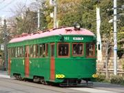 阪堺電車の現役最古「モ161号車」が運行 沿道に鉄道ファン