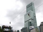 天王寺公園「てんしば」にジップライン 高さ14メートルから一気に滑り降りる