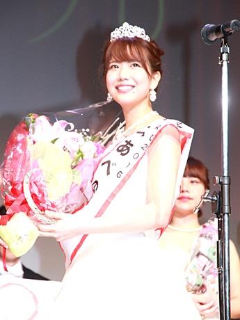 「ミスあべのコンテスト2016」のグランプリに輝いた兼保友紀子さん