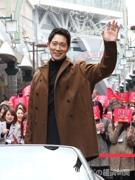 通天閣に佐々木蔵之介さん、横山裕さん オープンカーでパレードも