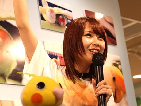 「小鳥のアートフェスタ」でトークショーを行ったSKE48高柳明音さん