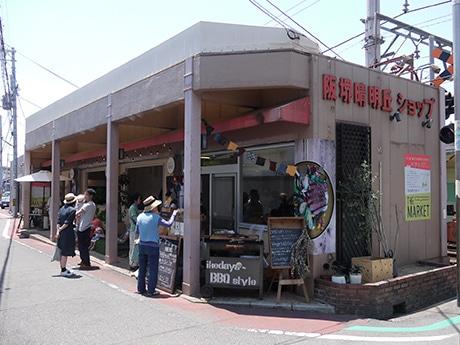 にぎわう東天下茶屋駅横の「THE MARKET」