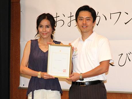 杉本彩さんと吉村洋文大阪市長