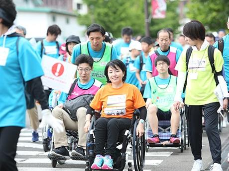仙台で6月に開催された第3回大会(写真提供=ジャパンウォーク2017春実行委員会)