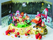 近鉄百貨店のクリスマスケーキ 絵本作家・谷口智則さんの世界を表現したケーキも