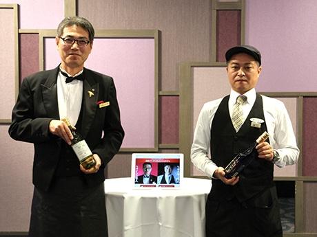 近鉄ワインの達人・杉原正彦さんと近鉄日本酒の達人・青山修一さん