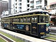 阪堺電車に「オリエント急行路面電車」 昭和3年製166号車をラッピング