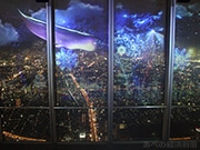 あべのハルカスでプロジェクションマッピング 大阪の未来都市、幻想的に表現