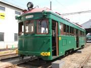 阪堺電車で「モ161形車」就役90周年記念のミステリーツアー 路面電車まつりの日に