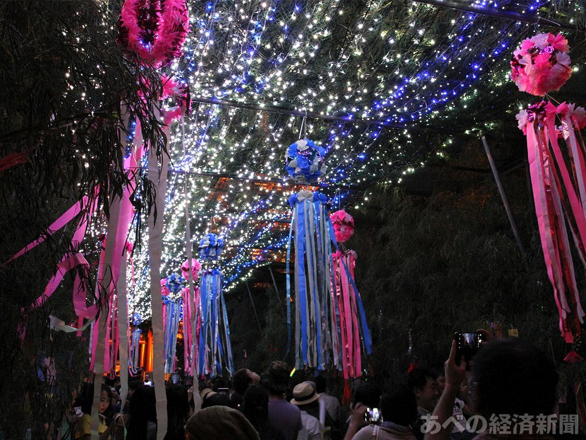 「七夕のゆうべ in 四天王寺」の笹トンネル(昨年の様子)