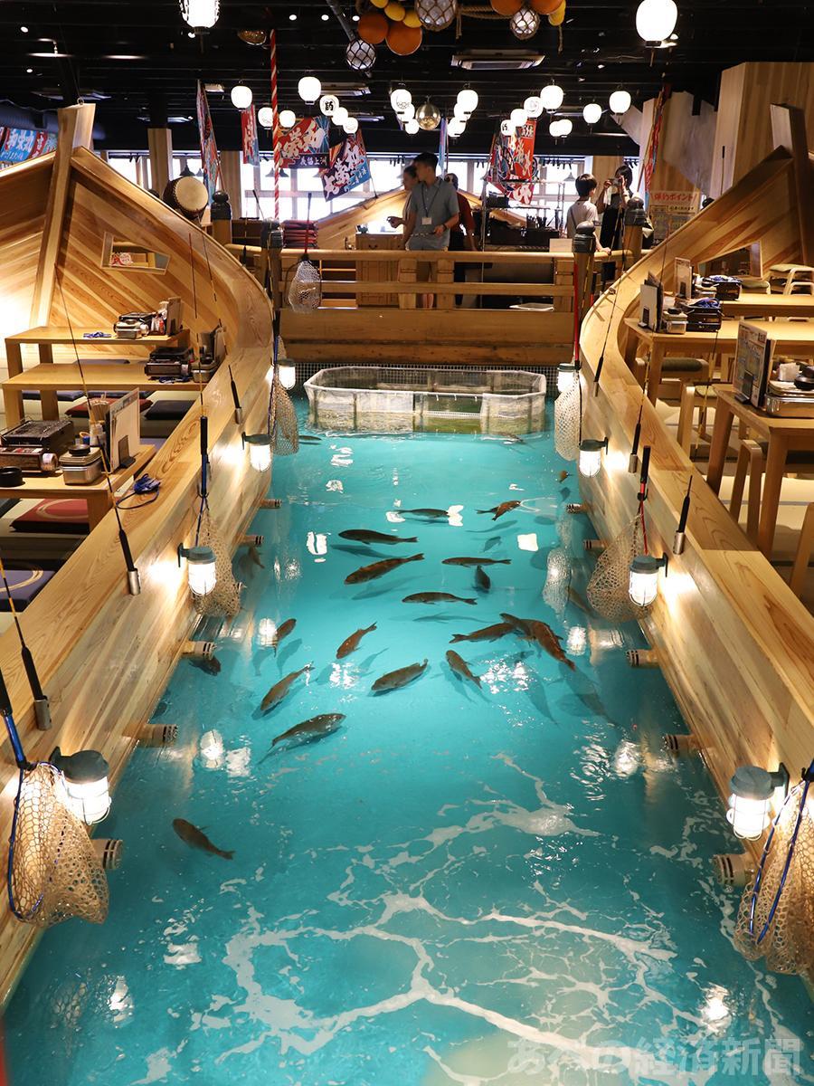 「ジャンボ釣船 つり吉」の店内