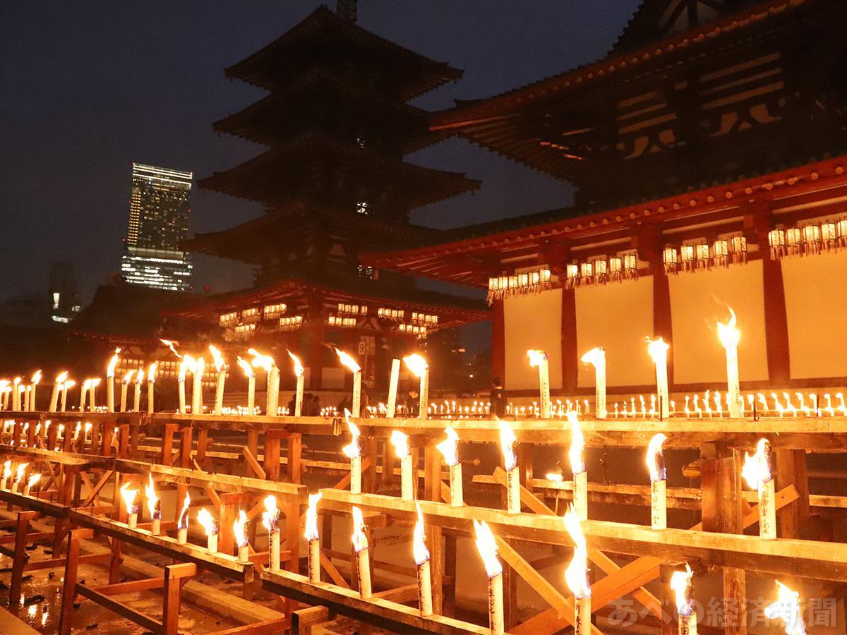 四天王寺で「万灯供養」