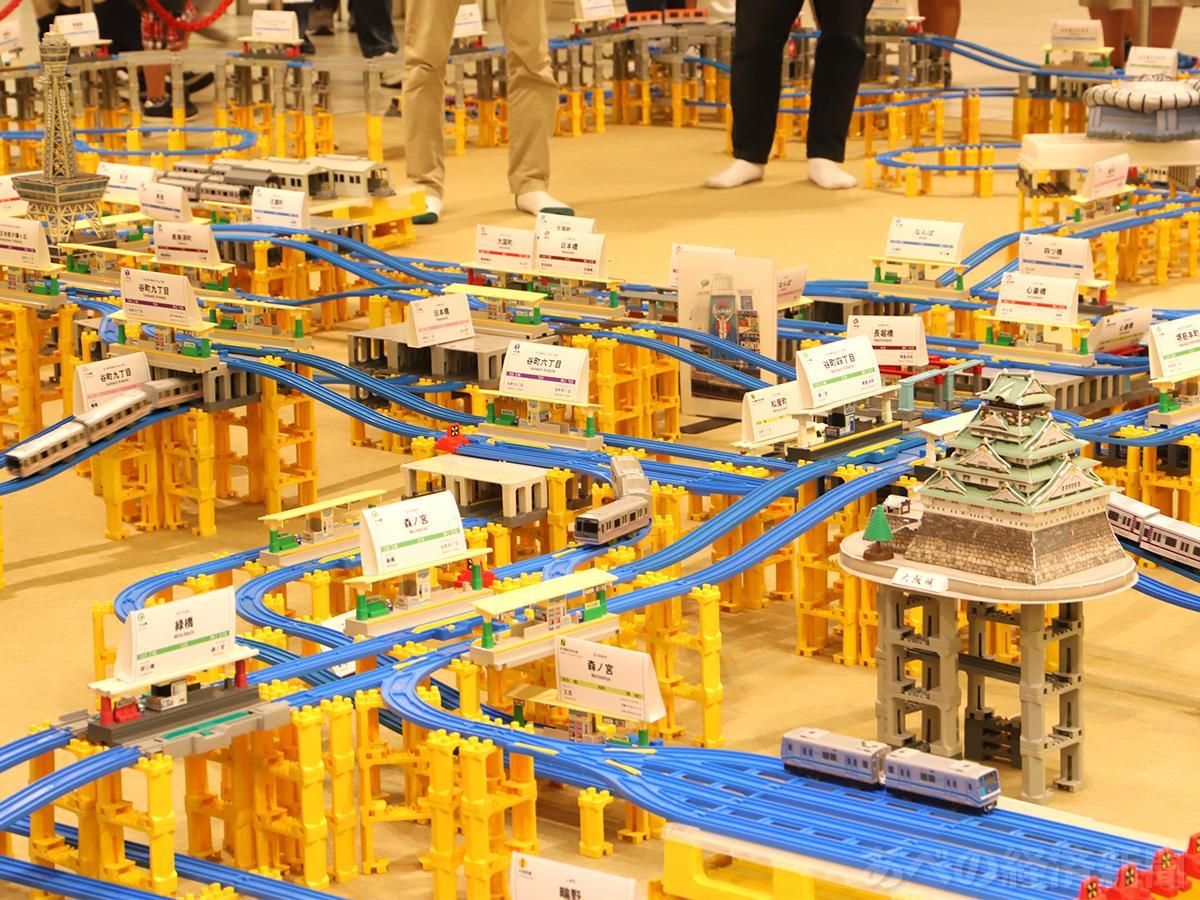 Osaka Metro路線図をプラレールで立体再現