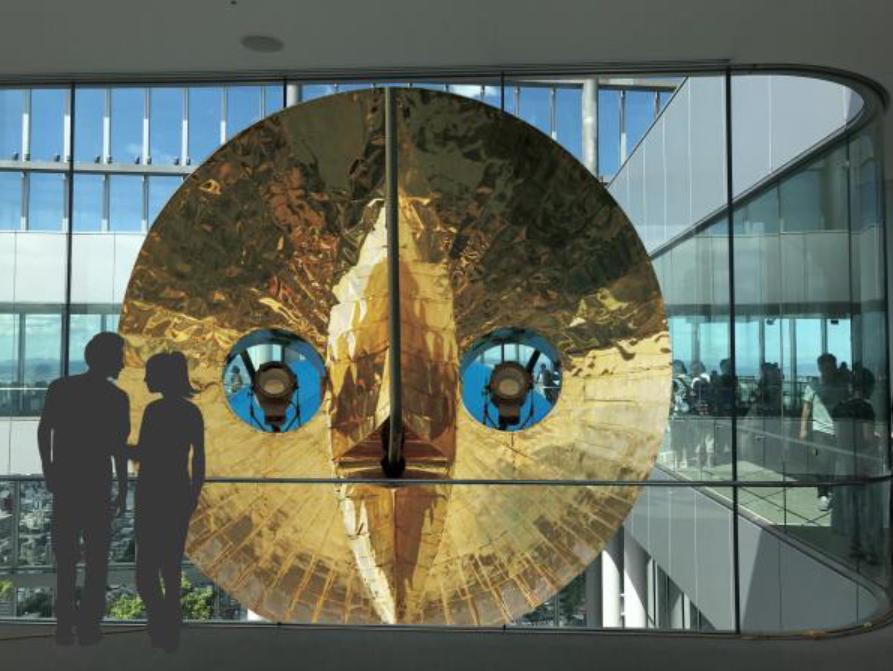 ハルカス300「黄金の顔BIGフェイスフォトスポット」のイメージ