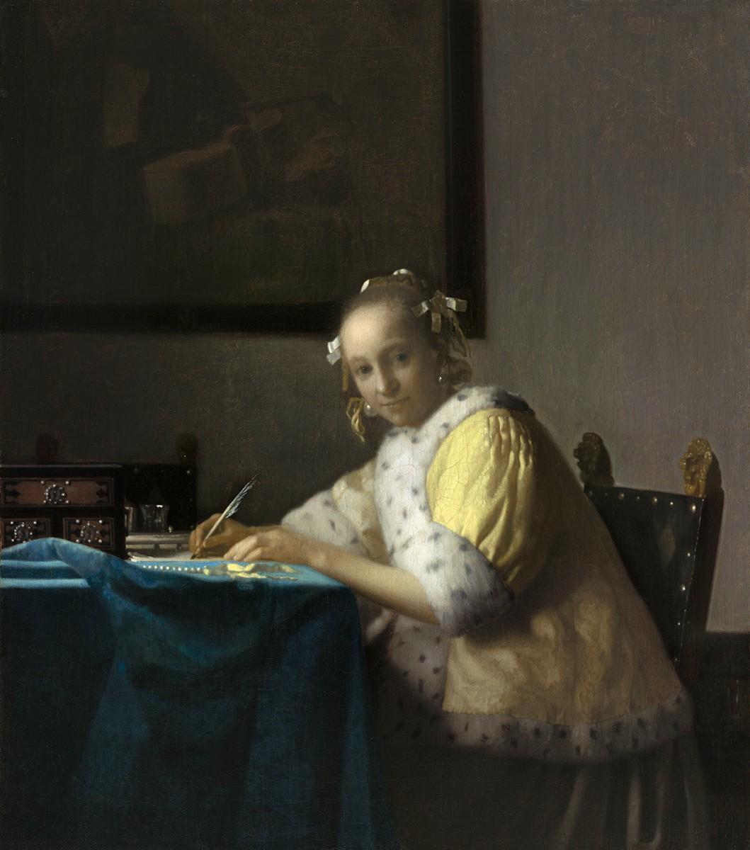 ヨハネス・フェルメール《手紙を書く女》1665年頃 ワシントン・ナショナル・ギャラリー National Gallery of Art, Washington, Gift of Harry Waldron Havemeyer and Horace Havemeyer, Jr., in memory of their father, Horace Havemeyer, 1962.10.1