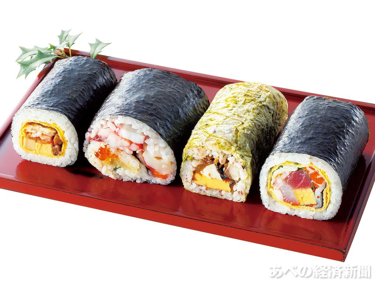 4種類で50品目の具材を使った「さかな屋の寿司」の「50品目の恵方巻」